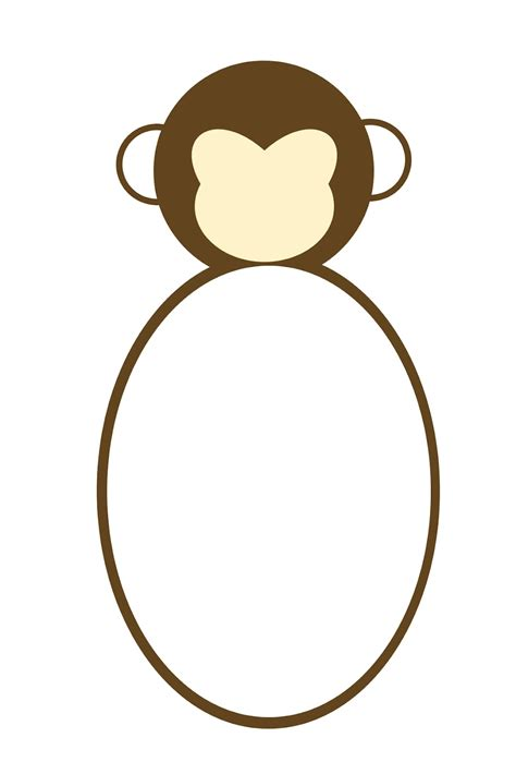 monkey template educational stuff pinterest monkey