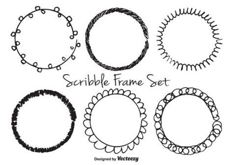 free vector doodle frame circular doodle frames vector free
