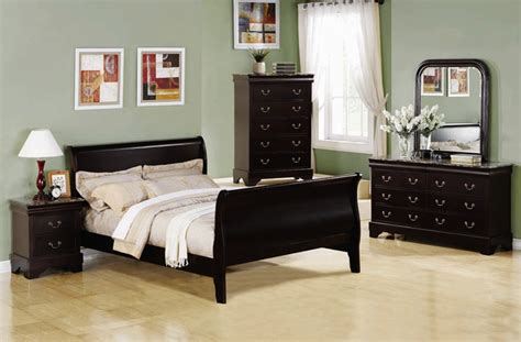 marble bedroom set louis philippe 6 piece bedroom set in cappuccino finish