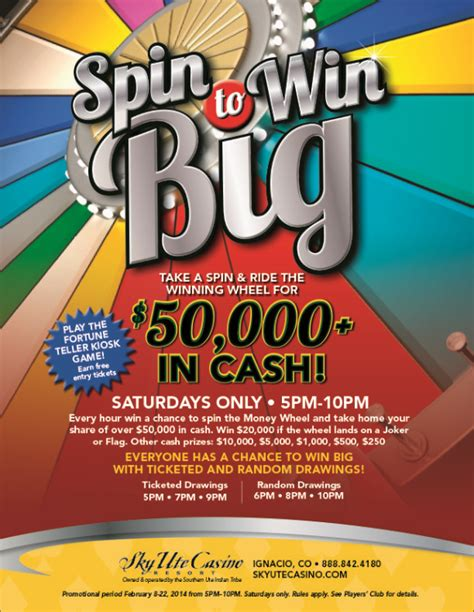 Win Big Money - spin to win big the money wheel is back sky ute casino resort