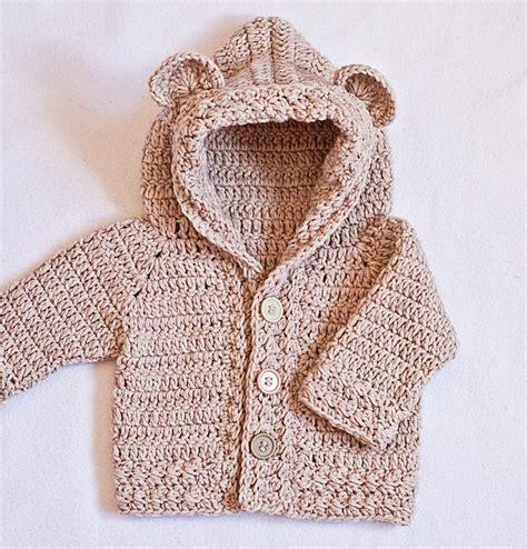 Baby Hooded Cardigan baby hooded cardigan crochet pattern sweater