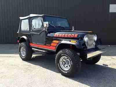1985 Jeep Wrangler For Sale Buy Used 1985 Amc Cj7 Renegade Nut And Bolt Restoration