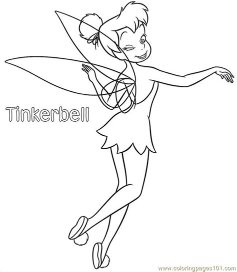 easy tinkerbell coloring pages tinkerbell coloring pages 01 coloring page free