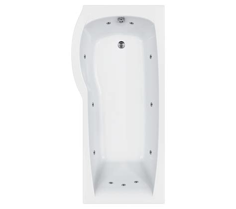 carron delta  jet whirlpool shower bath   mm