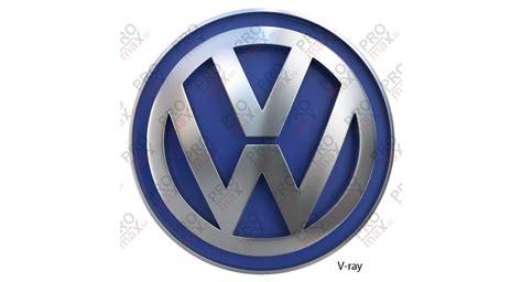 volkswagen logo volkswagen logo 3d model