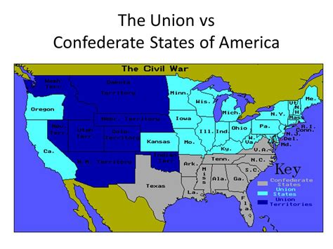civil war states map civil war map union and confederate states www pixshark