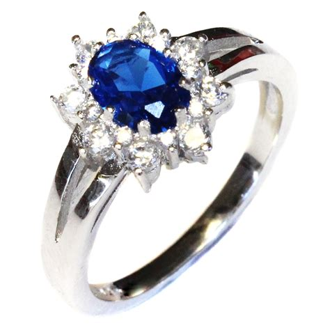 sapphire promise ring blue cubic zirconia beautiful