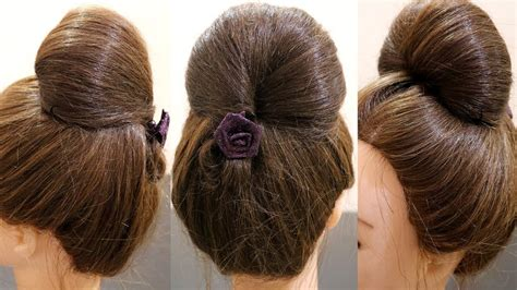 bubble hairstyle bubble bun hairstyle bun in 2 minutes easy hairstyle