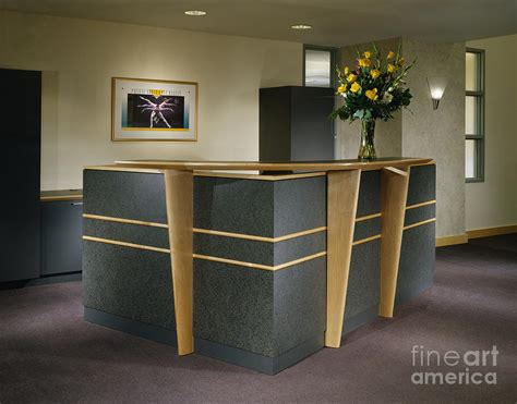 Building Office Desk Office Building Reception Desk Photograph By Robert Pisano