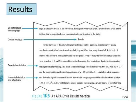 results section of a research paper exle apa research paper format methods section