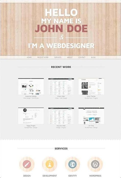 one page wordpress template