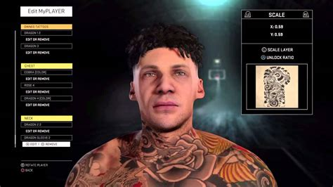 5 minute tattoo tutorial nba 2k16