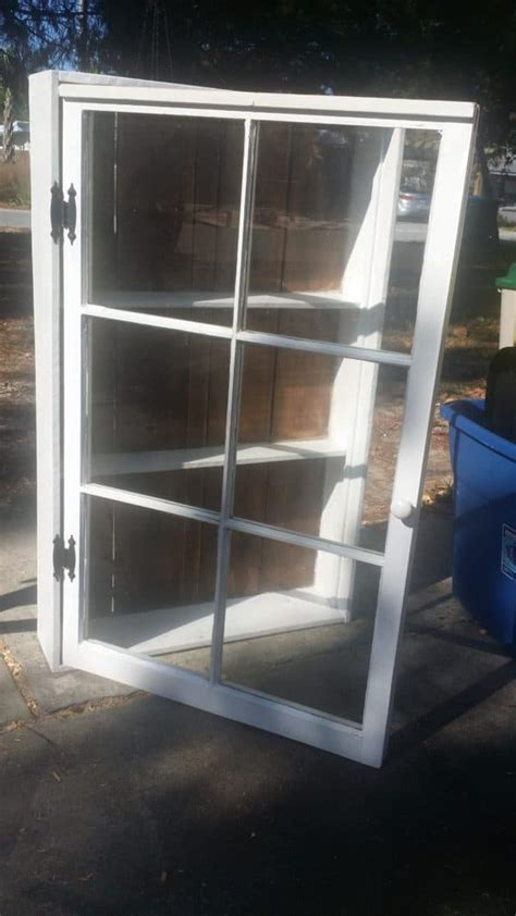 upcycled windows pallet wood bathroom cabinet recyclart