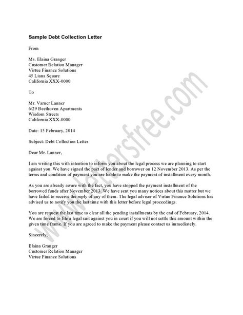 debt collection payment receipt template sle collection letter payment plan collections letter