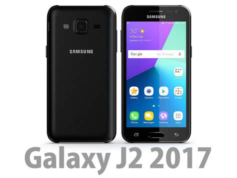 Samsung J2 Max samsung galaxy j2 2017 black 3d cgtrader