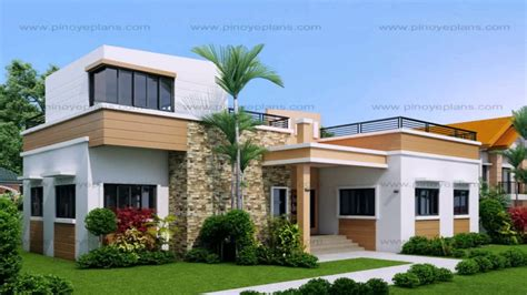 modern two storey house with streamline roof 2 storey house design with roof deck youtube