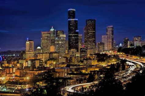 imagenes urbanas hd free photo skyline downtown seattle free image on