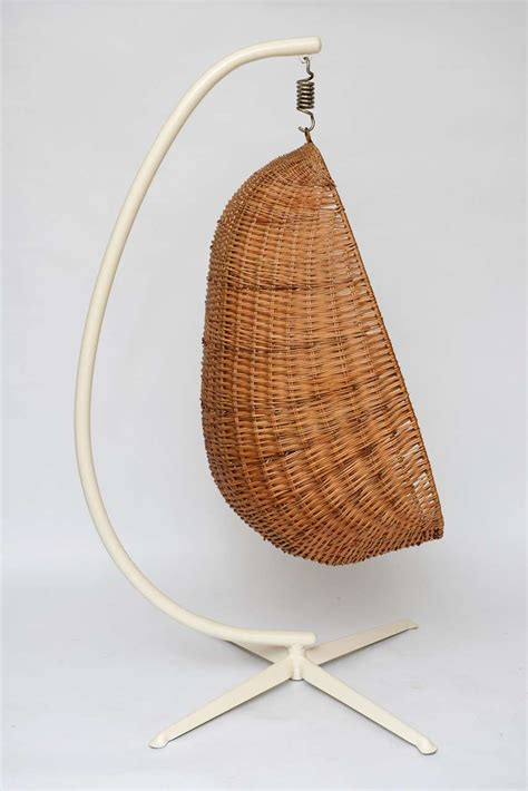 wicker hanging chair hanging wicker egg chair image 3
