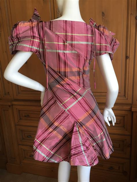 Dress Of The Day Tocca Vivienne Dress by Vivienne Westwood Label Taffeta Tartan Bias Cut Mini