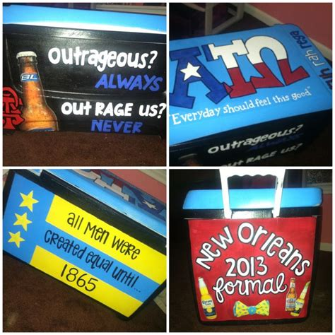 ready to paint coolers cooler for boyfriends formal party sorority
