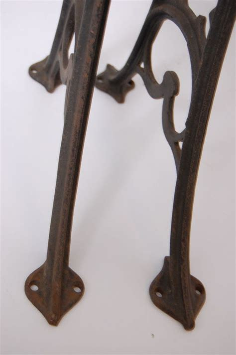 antique decorative cast iron table legs base vintage