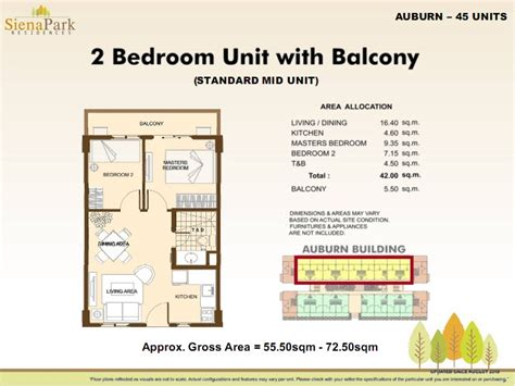 Floor Plan For Gym Siena Park Residences Para 241 Aque Dmci Homes Online