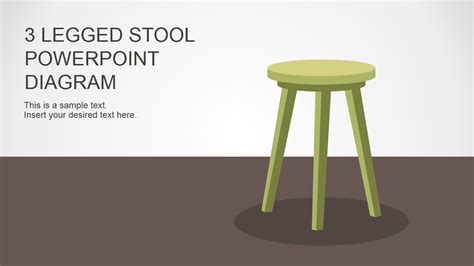3 Legged Bar Stool by 3 Legged Stool Powerpoint Diagram Stools