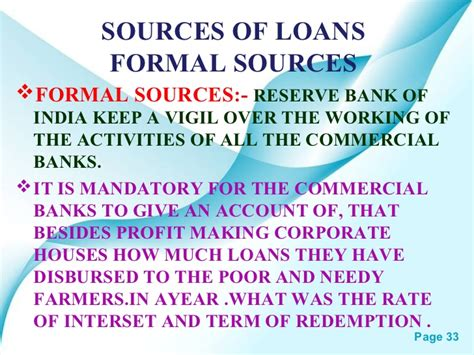 Formal Sources Of Credit In India Money And Credit