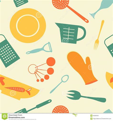 kitchen pattern vector free kitchen background stock vector image of paper abstract