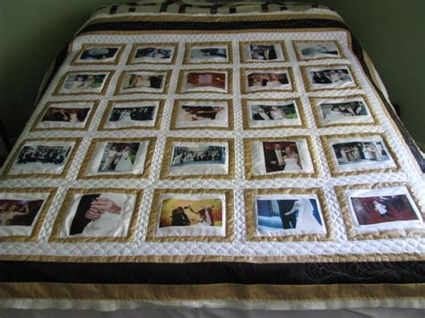 Wedding Memory Quilt by So To Being Finished Wedding Memory Quilt