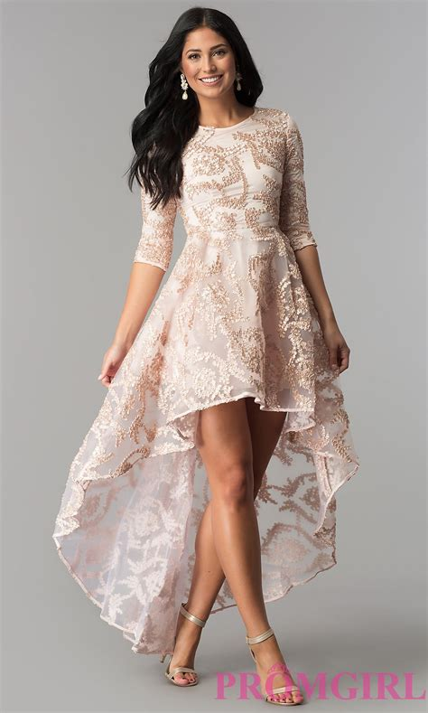 Sazkia Kaftan Dress high low sleeved dress in blush pink promgirl