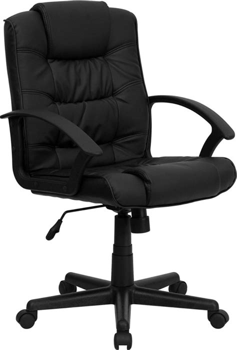 plush office chair eco friendly black leather mid back plush executive office