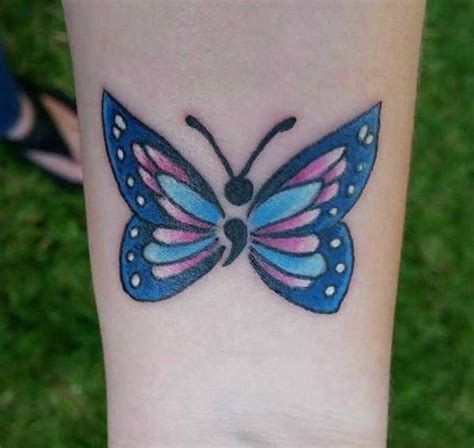 semicolon butterfly tattoo 25 unique semicolon tattoos