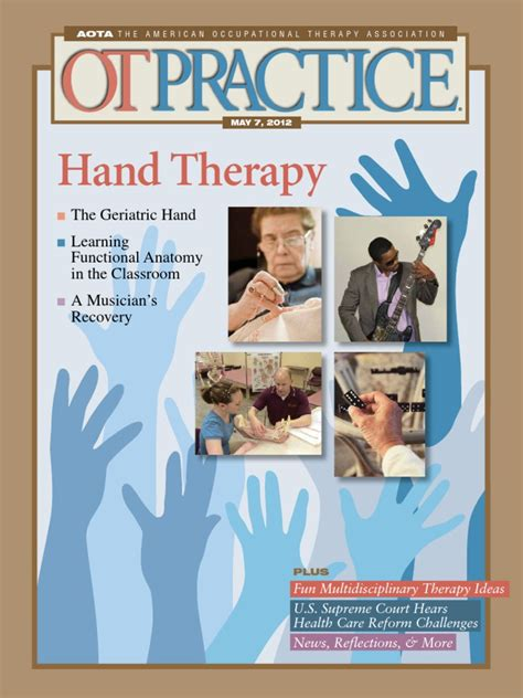 therapy issue 1 ot practice may 7 issue occupational therapy