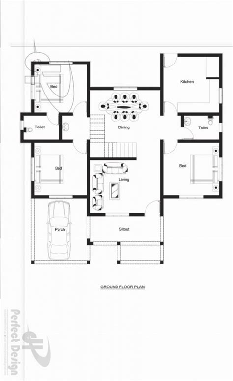one storey house design with roof deck house