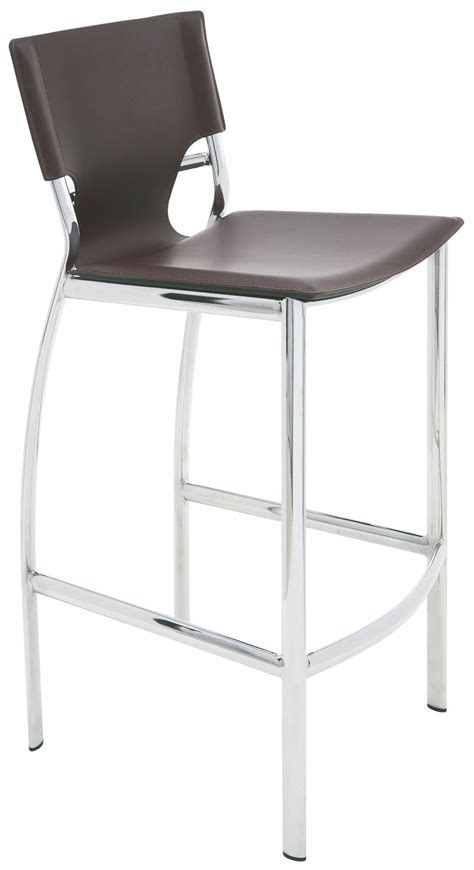 Brown Counter Stools by Lisbon Brown Leather Counter Stool Hgga222 Nuevo