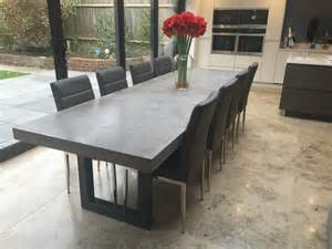 concrete dining room table 3 metre polished concrete dining table