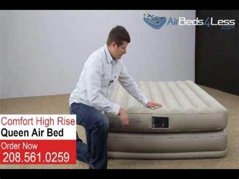 intex air mattress queen size high rise comfort air bed