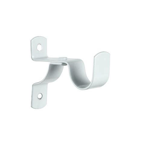 white curtain brackets single stayed curtain bracket 60mm white