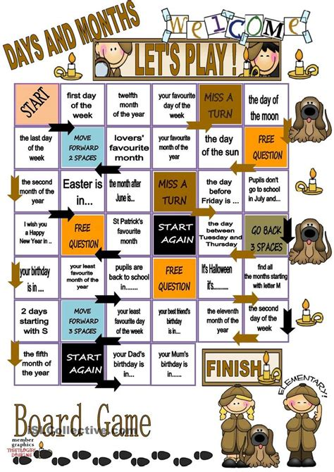 Elc Puzzle And Gameboard Days Of The Week 224 best months images on school books and