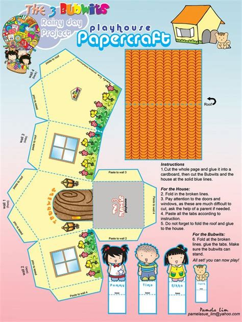 House Papercraft - free printable papercraft house by pammylim on deviantart