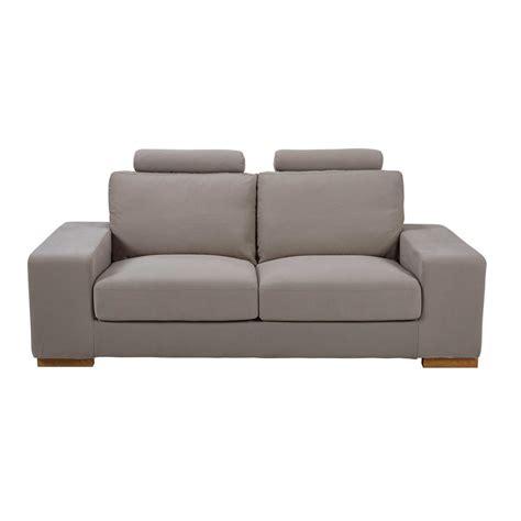 poggiatesta divano divano con poggiatesta 2 posti talpa in tessuto daytona