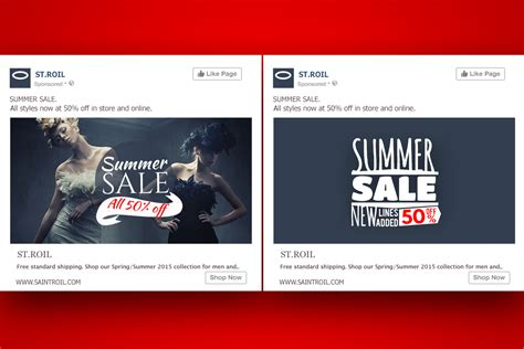pattern advertising exles 7 simple a b tests for more effective facebook ad design