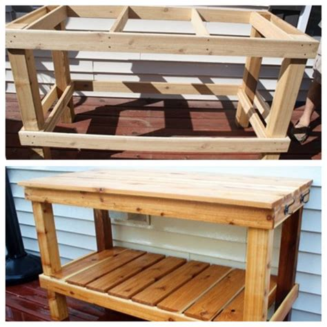 build your own potting bench diy potting bench for the home pinterest work
