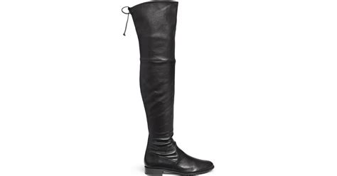 stuart weitzman lowland stretch leather thigh high boots