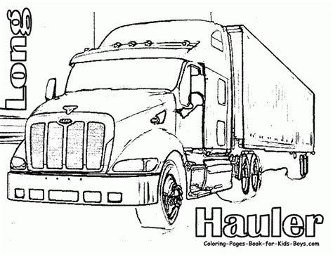 Tractor Trailer Coloring Pictures Tractor Trailer Coloring Pages Az Coloring Pages
