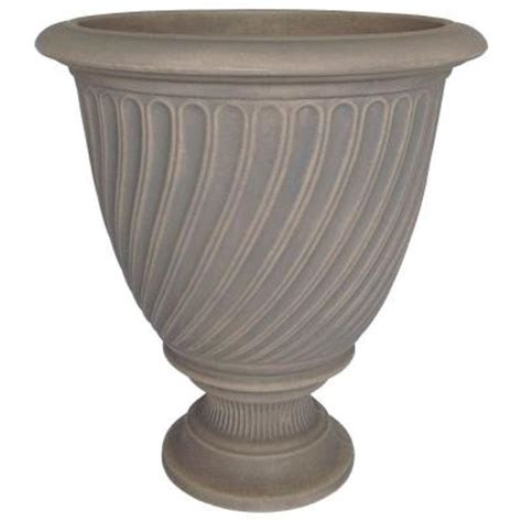 Urn Planters Home Depot by Planters 17 In X 19 In Resin Trevi Urn In Dove