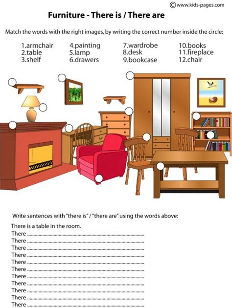 s room pdf furniture there is are worksheets dom dom 225 cnosť worksheets and