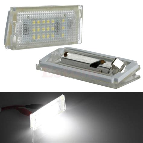 18 led light 1pair 18 led license plate lights error free l for bmw