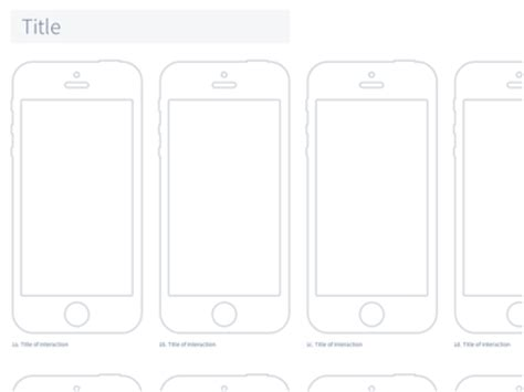 apple iphone 5 wireframe template sketch freebie